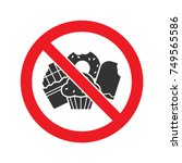 forbidden sign with... | Shutterstock .eps vector #749565586