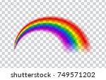 transparent rainbow. vector... | Shutterstock .eps vector #749571202