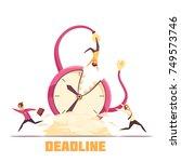 deadline disaster warning...   Shutterstock .eps vector #749573746