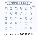 user interface line mini icons...