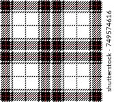 black and white scottish woven... | Shutterstock .eps vector #749574616