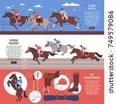 equestrian sport horizontal...