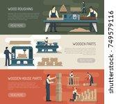 woodworking horizontal banners...   Shutterstock .eps vector #749579116