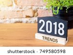 new year 2018 trends on... | Shutterstock . vector #749580598