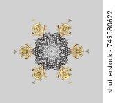 snowflake icon. snowflake... | Shutterstock .eps vector #749580622