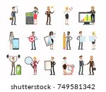 business people set. men and... | Shutterstock .eps vector #749581342