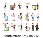business people set. men and... | Shutterstock .eps vector #749581342