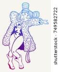 sexy girl dancing  vector...   Shutterstock .eps vector #749582722