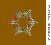 cute abstract snowflake design... | Shutterstock . vector #749582728