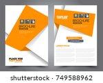orange flyer template design.... | Shutterstock .eps vector #749588962