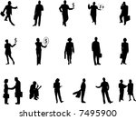 business silhouettes | Shutterstock .eps vector #7495900