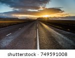 a beautiful road with sunlight... | Shutterstock . vector #749591008