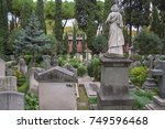 """Small photo of Detail of the Acatological Cemetery of Rome, known as the cemetery of the English, or even """"Protestant Cemetery"""", or in the spoken language """"Testaccio Cemetery""""."""