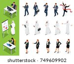 isometric business characters... | Shutterstock .eps vector #749609902