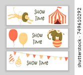 circus set of characters  cute... | Shutterstock .eps vector #749610292