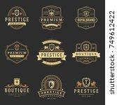 luxury monograms logos... | Shutterstock .eps vector #749612422