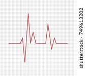 heartbeat   vector icon... | Shutterstock .eps vector #749613202