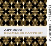 art deco seamless pattern with... | Shutterstock .eps vector #749620936