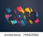 vector horizontal background... | Shutterstock .eps vector #749625082