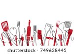 cooking seamless pattern.... | Shutterstock .eps vector #749628445