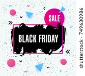 black friday sale poster with... | Shutterstock .eps vector #749630986