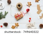 christmas background. christmas ... | Shutterstock . vector #749640322