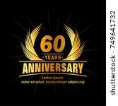 60 years design template.... | Shutterstock .eps vector #749641732