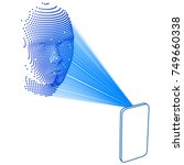 facial recognition using lasers  | Shutterstock .eps vector #749660338