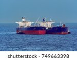 refuelling or bunkering in... | Shutterstock . vector #749663398