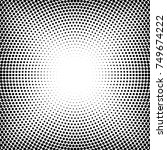 halftone dotted background... | Shutterstock .eps vector #749674222