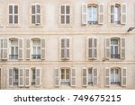 old windows with wooden... | Shutterstock . vector #749675215