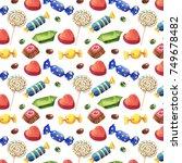watercolor seamless pattern of...   Shutterstock . vector #749678482
