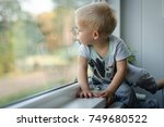 little  lost in thoughts  and... | Shutterstock . vector #749680522
