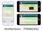 social network concept. blank... | Shutterstock .eps vector #749682352