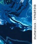 green blue marble texture... | Shutterstock . vector #749689348