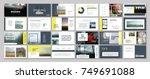 original presentation templates ... | Shutterstock .eps vector #749691088