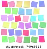 the color sticky notes set | Shutterstock .eps vector #74969515
