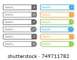 search bar vector design... | Shutterstock .eps vector #749711782