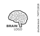 brain logo style design on a... | Shutterstock .eps vector #749711818
