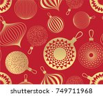 new year pattern. golden... | Shutterstock .eps vector #749711968