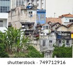 view of a favela in rio de... | Shutterstock . vector #749712916
