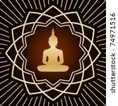 Buddha In Gold Flower