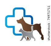 veterinary sign | Shutterstock .eps vector #74971711