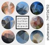 abstract vector polygonal... | Shutterstock .eps vector #749726752