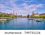 panoramic view of historic... | Shutterstock . vector #749731126