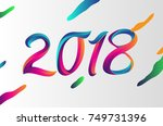 2018 modern and colorful... | Shutterstock .eps vector #749731396