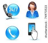 customer service support  ... | Shutterstock .eps vector #74973523