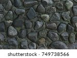 gray stone background  part of...   Shutterstock . vector #749738566