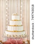 wedding cake | Shutterstock . vector #749743018