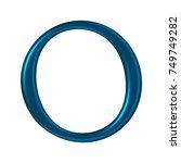 glowing neon metallic blue... | Shutterstock . vector #749749282